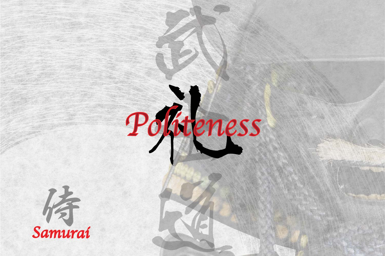 Respect, Politeness in Japanese Kanji symbol for Tattoo