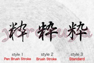 Simple Cool One Word Tattoo for Neck, Chest, Behind the ear, Japanese Kanji Letter