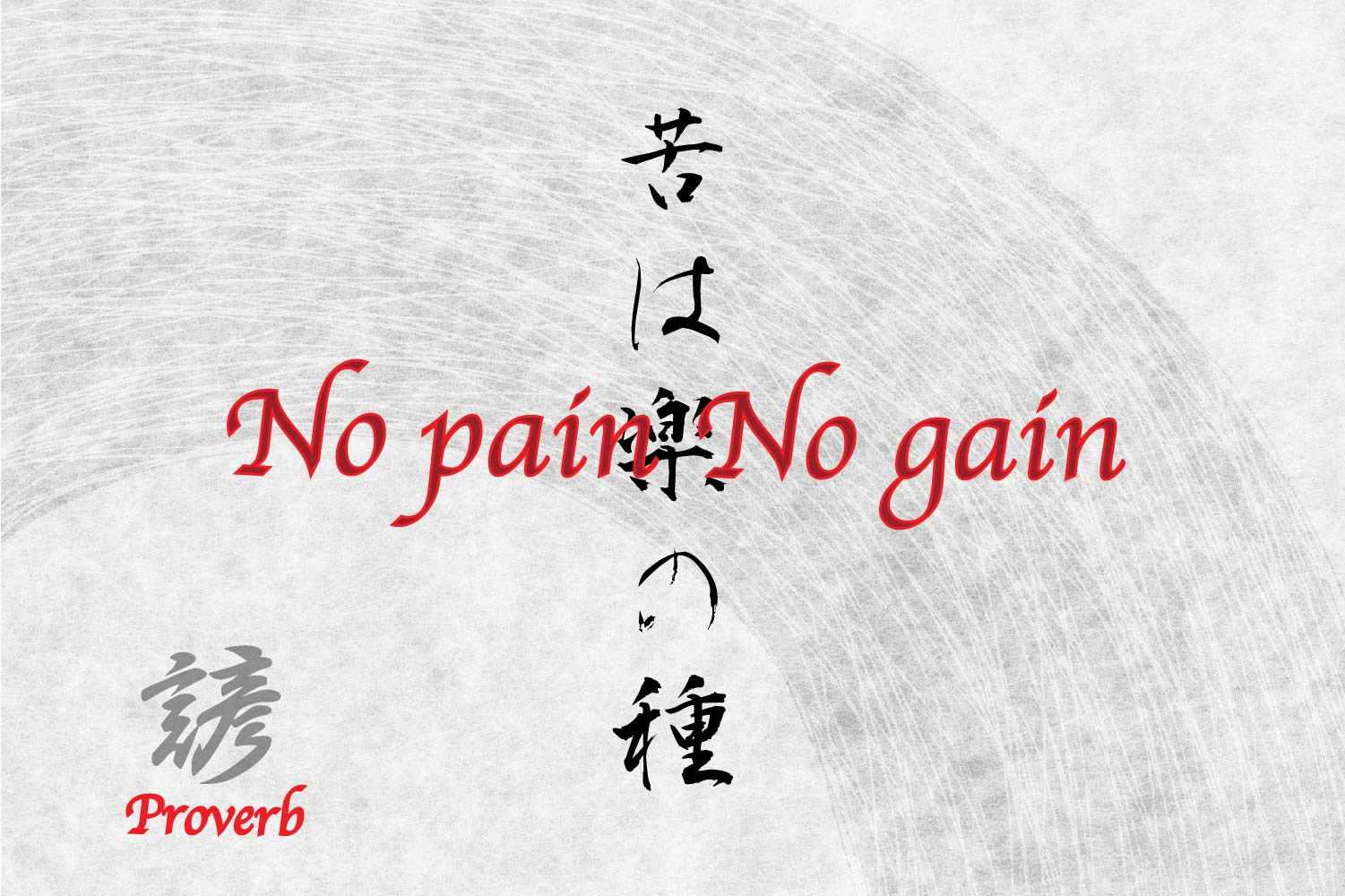 No pain No gain In Japanese Symbols for tattoo