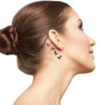 word Kanji Tattoo for Female behind Ear deep meaning