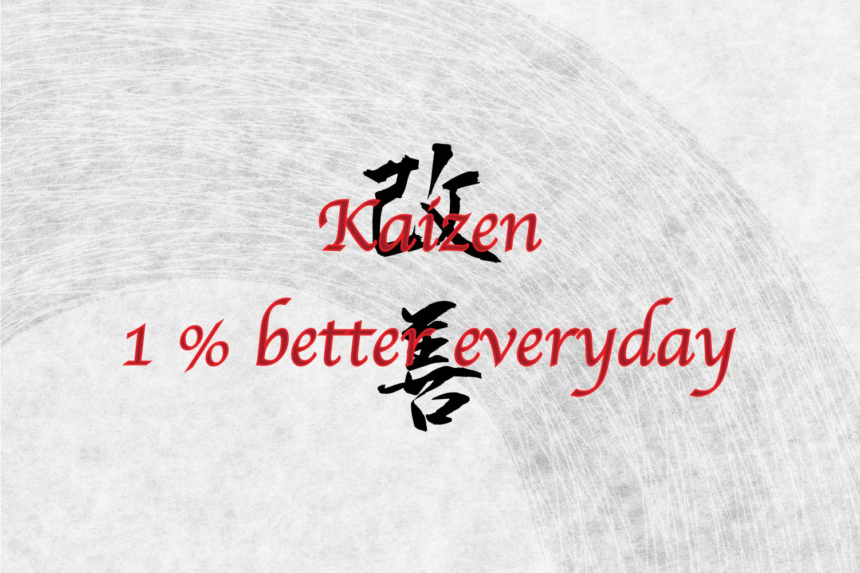 kaizen in Japanese Kanji symbol for tattoo