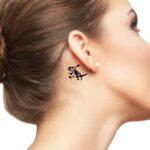 gaara tattoo behind ear.