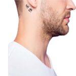 Kanji tattoo Behind the ear