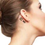 Kaizen Tattoo Idea for behind the ear tattoo