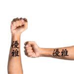 Japanese Kanji Symbols For Forearm Tattoo.