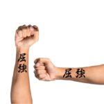 Kanji Tattoo Idea for Forearms for guys