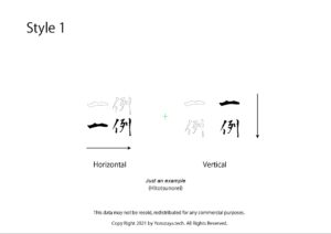 Kanji Tattoo Example vertical Horizontal directions