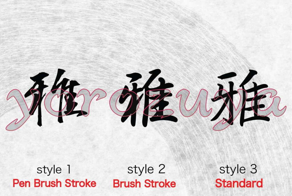 Simple Descriptive word for Tattoo In Japanese kanji Symbol