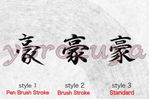 Simple One Word Tattoo for Neck, Chest, Shoulder, Japanese Kanji Letter