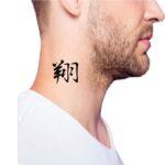 tattoo neck men, word tattoo for guys