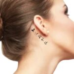 Japanese Word for behind the ear tattoo
