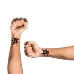 Word tattoo on wrist Dance