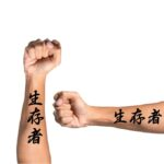 Survivor in Japanse Kanji symbols for forearm tattoo