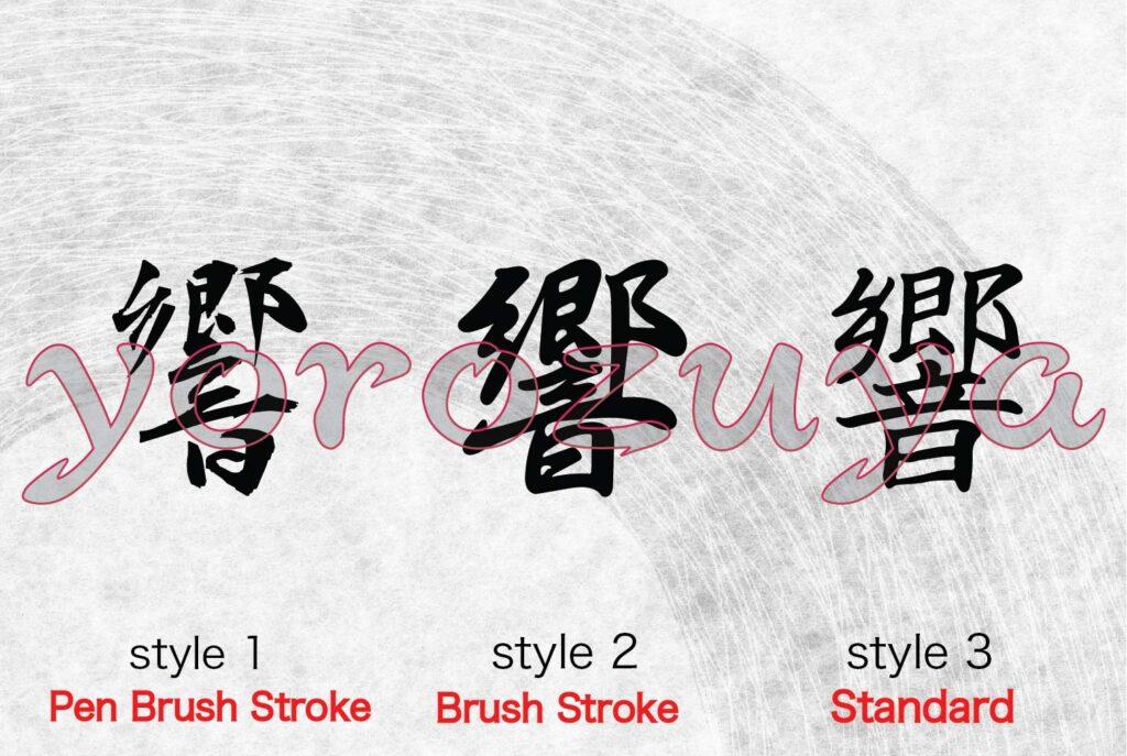 Kanji tattoo ideas - echo, resound, vibration in calligraphy