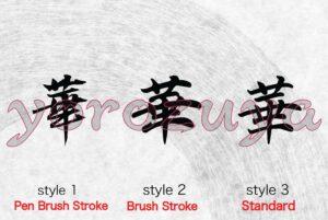 Japanese Kanji tattoo idea for woman