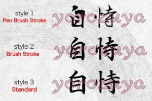 Believe in yourself in Japanese Kanji for tattoo horizontal orientation