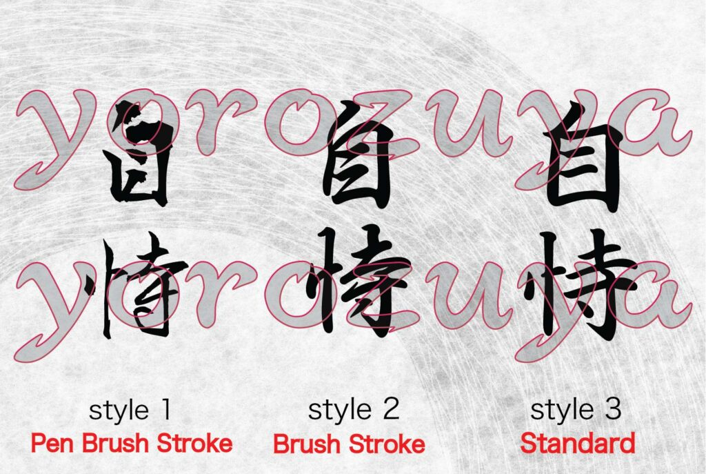 Believe in yourself in Japanese Kanji symbols for tattoo vertical orientation