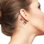 Word Tattoo Ideas for female behind the ear Cut