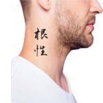 Kanji Tattoo Ideas for Guys, Mental Strength