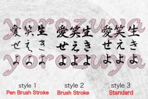 live laugh love in japanese Kanji for tattoo